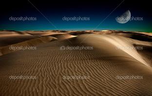 пустыня песок луна