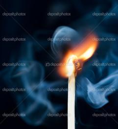 дым огонь спичка