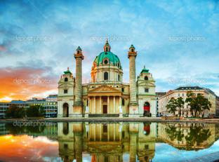 Карлскирхе в Вене Австрия