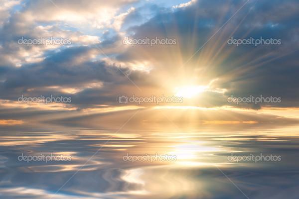 как нарисовать отражение солнца утром в воде сборке шкафа производитель