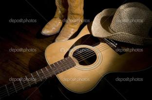 гитара шляпа и сапоги