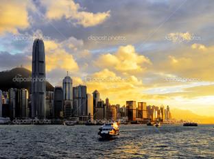 вид на город Гонконг