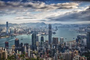 Гонконг панорама вид с пика