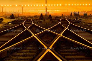 платформа на закате