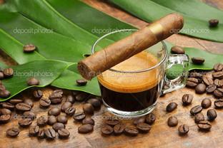 кофе и сигара