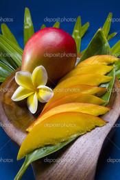 манго фрукты нарезанные и целые