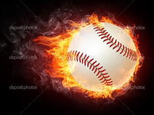 бейсбольный мяч огонь