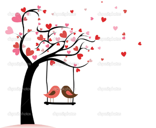 птички на дереве