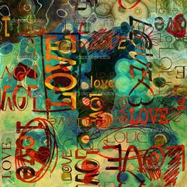 винтаж графити любовь