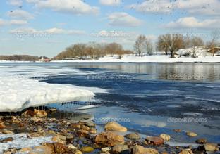 берег льдины