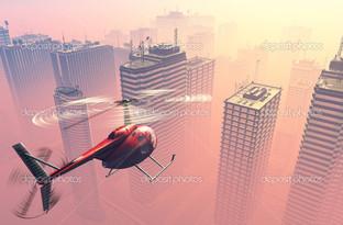 гражданский вертолет панорама