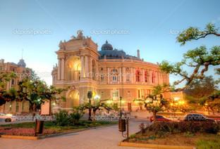 старая Одесса Оперный театр ночь