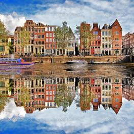 красивая панорама Амстердам