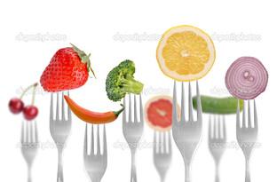 диета понятие на белом фоне
