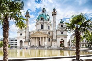 Карлскирхе Сент Чарльз церковь в Вене