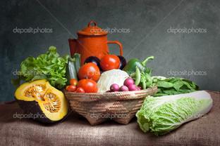 натюрморт овощи