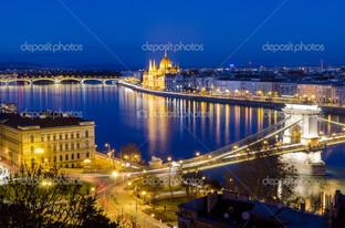 Будапешт ночь вид на Дунай