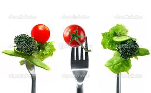 три вилки овощи