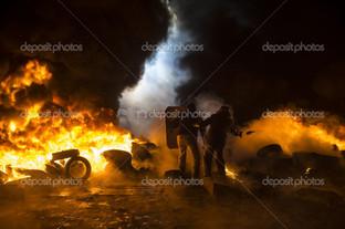 улицы протесты в Киеве