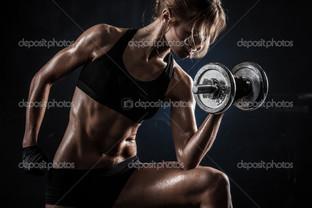 фитнес с гантелями