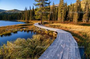 помост деревянный
