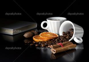 кофе корица и чашки