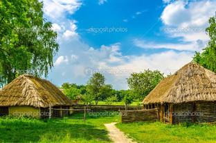 древные традиционные построения украинско села