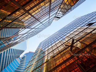 офис зданиях вид в небо