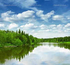 отражение красивое небо