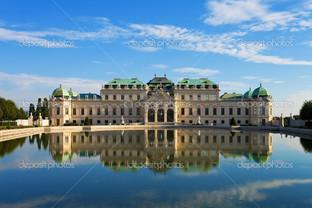 летний дворец Бельведер в Вене