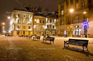 ночьная улица Львова