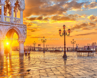 восход солнца в Венеции