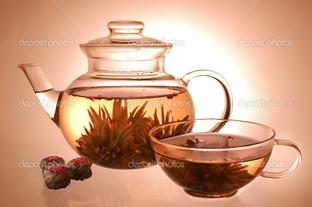 стекло чайник и чашки