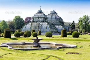 ботанический сад и Шенбрунн дворец в Вене