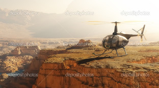 вертолёт на скале