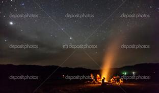 ночь кемпинг под звездами горы