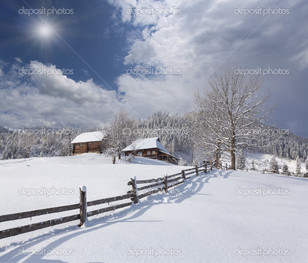 снежный белый край