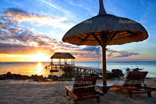 остров Маврикий закат