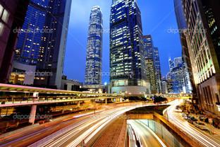 Гонконг в ночи