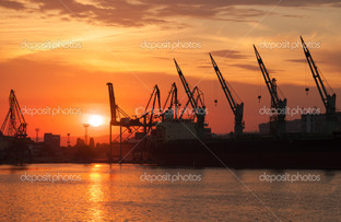 порт ночью Одесса