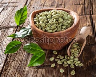 кофейные зелёные зёрна