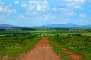 Красивый африканский пейзаж