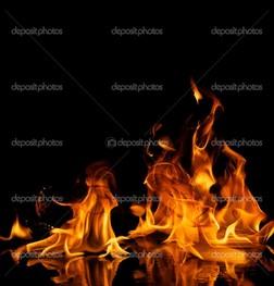 пламя отражение