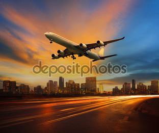 красивое освещение самолет