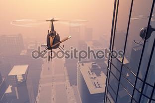 панорама с вертолёта