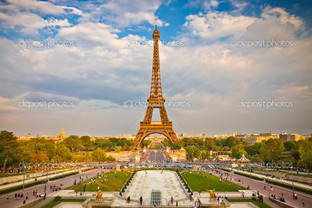 Эйфелева башня панорама