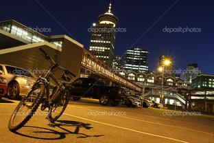 Ванкувер центр город ночь