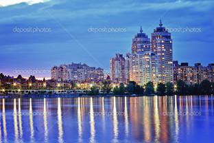Киев вечером набережная
