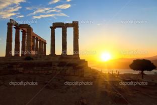 руины Посейдон храм Греция