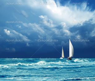 гроза яхты